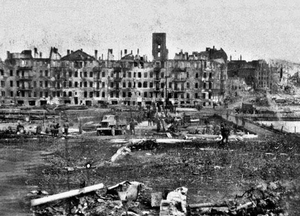 Кёнигсберг после боёв 1945 г.