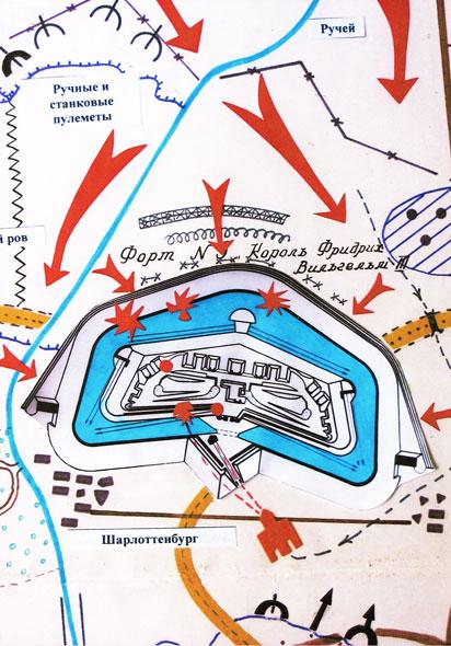 Схема штурма форта №5