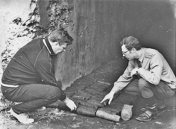 Подготовка взрывоопасных предметов к утилизации