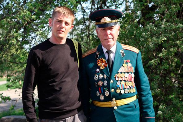 Загорный Н.В., Овсянов А.П. 9 мая 2013 года, последнее совместное фото