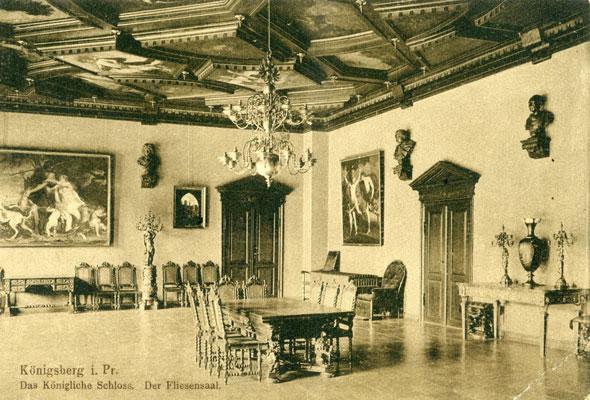 Кафельный зал - столовая герцога Альбрехта.