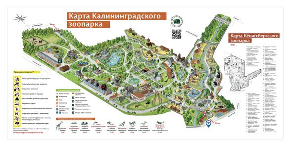 Карта Калининградского зоопарка.